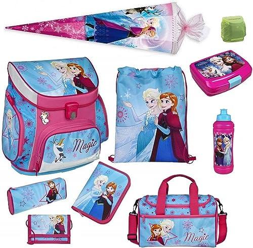 Familando Disney die Eisk gin Schulranzen-Set 10-TLG. Scooli Campus Up Frozen Magic mit Sporttasche Federmappe Schultüte 85cm und Regenschutz