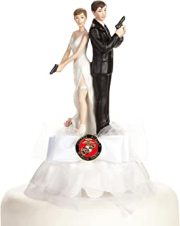 Military Super Sexy Spy Guns Cake Topper- Air Force - Navy - Army - Marines (Air Force)