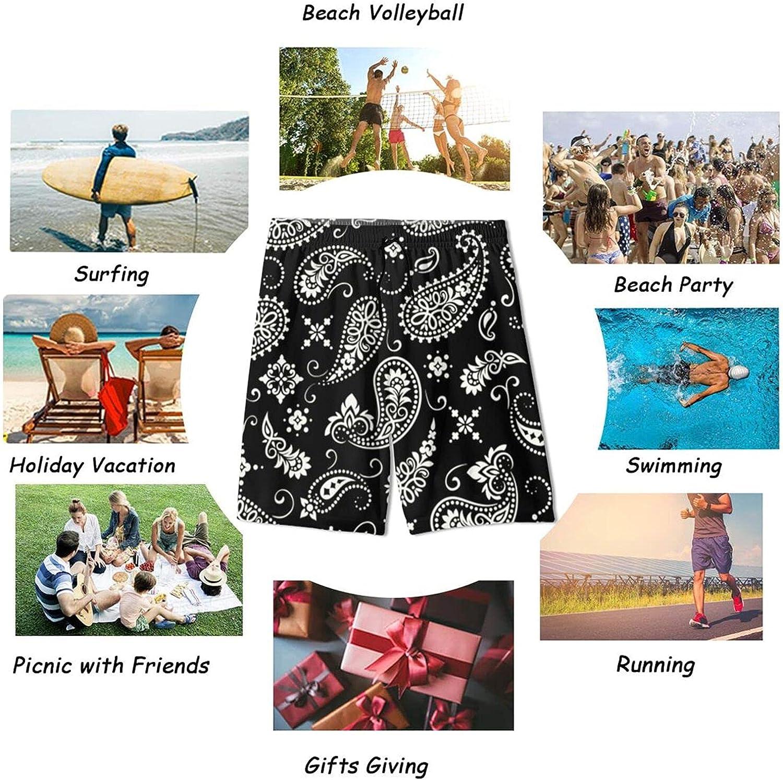 Huatansy Men's Fashion Quick Dry Swim Trunks Bandana Print Board Shorts Swimwear Mandala Bathing Suit
