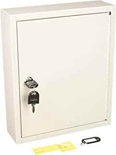 Buddy Products 0128-32 Key Cabinet, 28 Hooks, Steel, 3 x 12 x 10-Inches, Platinum