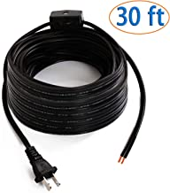 Eumyviv 30 ft Extension Power Cord Strip with On Off Switch, 2 Prong Electric Extension Cable Wire(300V/18AWG)-Power Your Household and Office Electric Appliance, Black, A0003B