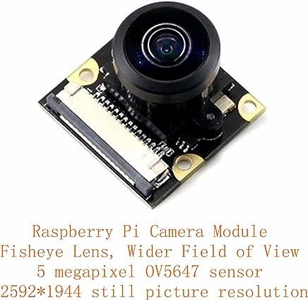 Venel RPI Camera (J)/Raspberry Pi Camera Module, Fisheye Lens/Night Vision/Wider Field of View, With Infrared LED, 5 MP Ov5647 Sensor - Trova i prezzi più bassi