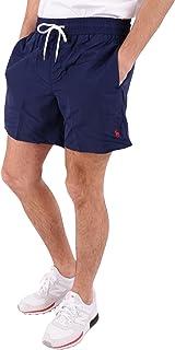 d475538b8c Ralph Lauren Short de Bain Traveler Bleu Marine Logo Rouge pour Homme