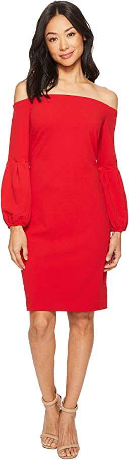 Vince Camuto - Off Shoulder Bubble Sleeve Crepe Ponte Dress