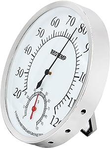 REOTEMP DTH5 Analog Desktop Thermometer Hygrometer, 5