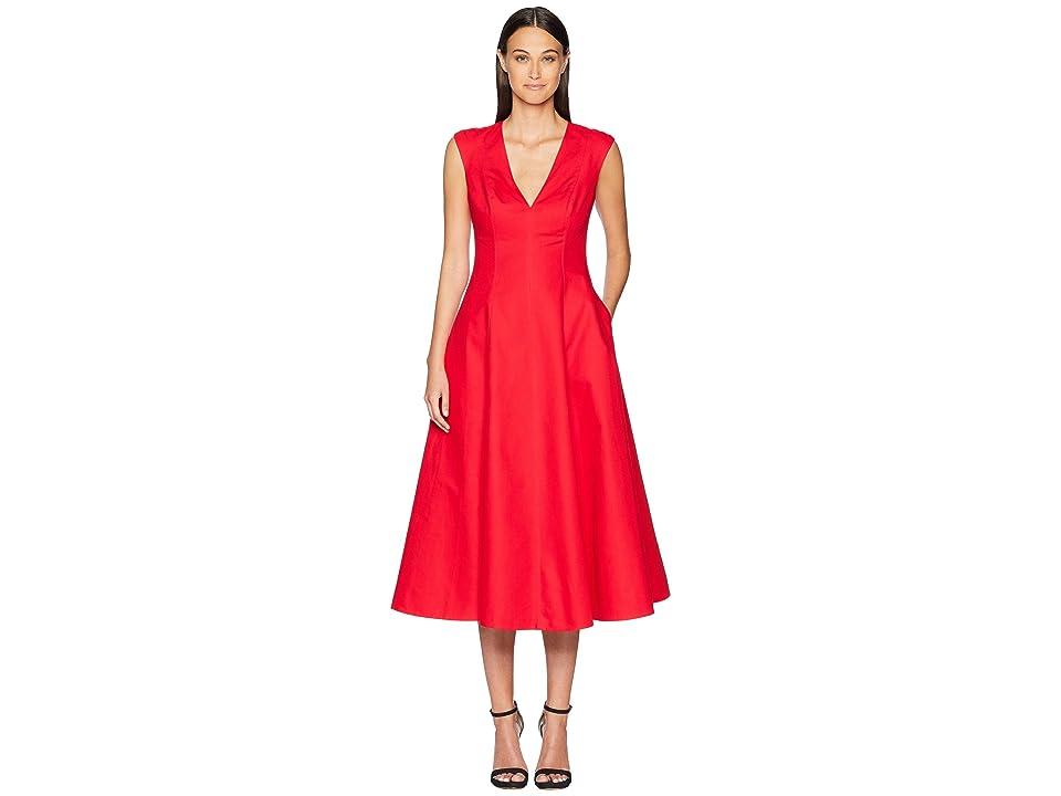 Kate Spade New York Structured Midi Dress (Lingonberry) Women