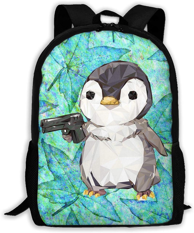 Vogue Cubic Penguin Power Printed Backpack Waterproof Easy
