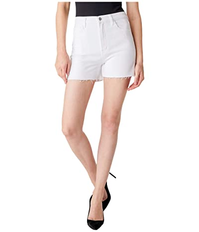 J Brand Jules High-Rise Shorts in White Women
