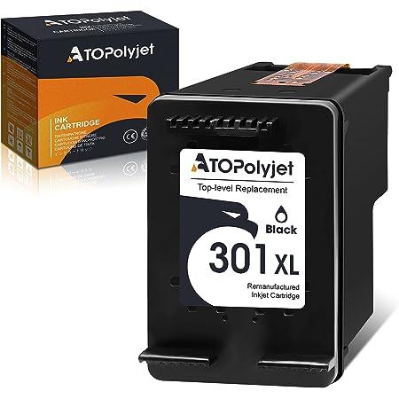 ATOPolyjet Remanufactured for HP 301 XL 301XL Cartucce Stampante 1 Pack per Deskjet 1000 2050 2510 2540 3000 3050 Envy 5530 4500 4507 5532 4502 5534 4504 Officejet 2620 2622 4630 4632 (1 Nero)