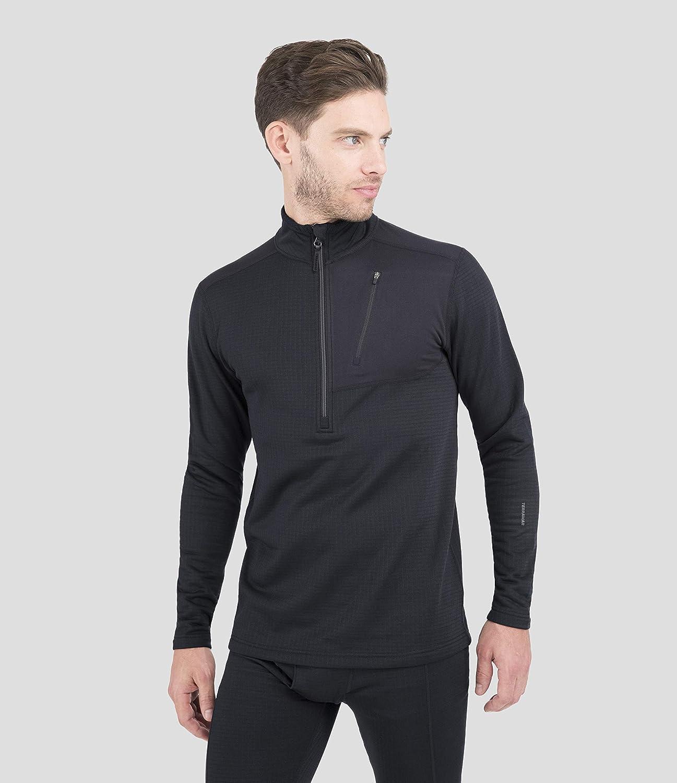 Terramar Men's Ecolator 1 4th Free shipping Max 56% OFF on posting reviews Black XLarge Zip