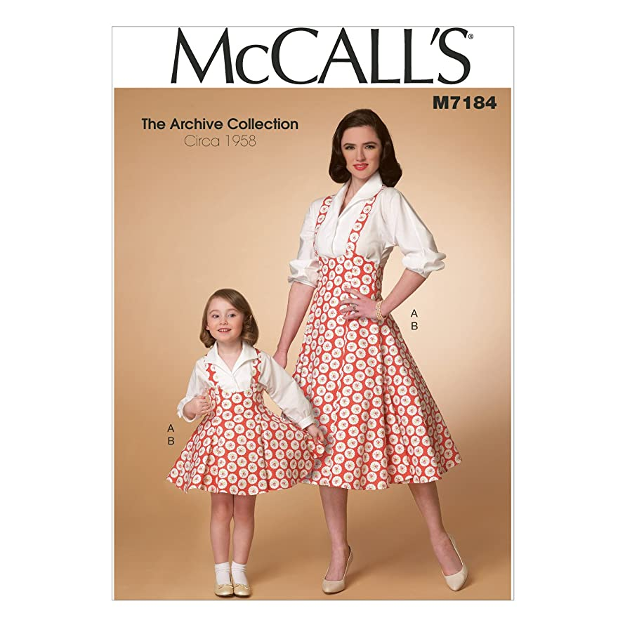 McCall's Patterns M7184 Misses'/Children's/Girls' Top and Jumper Sewing Template, Kid (3/4-5/6-7/8)