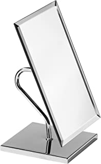 Premier Housewares Large Rectangle Free Standing Adjustable Mirror - Chrome