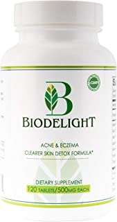 Biodelight 2020 Edition Acne & Eczema Natural Supplement Pills for Clearer Skin