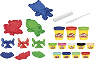 Play-Doh PJ Masks Hero Set Arts and Crafts Activity Toy for Kids 3 Years and Up with 12 Cans of Non-Toxic Modeling Compound