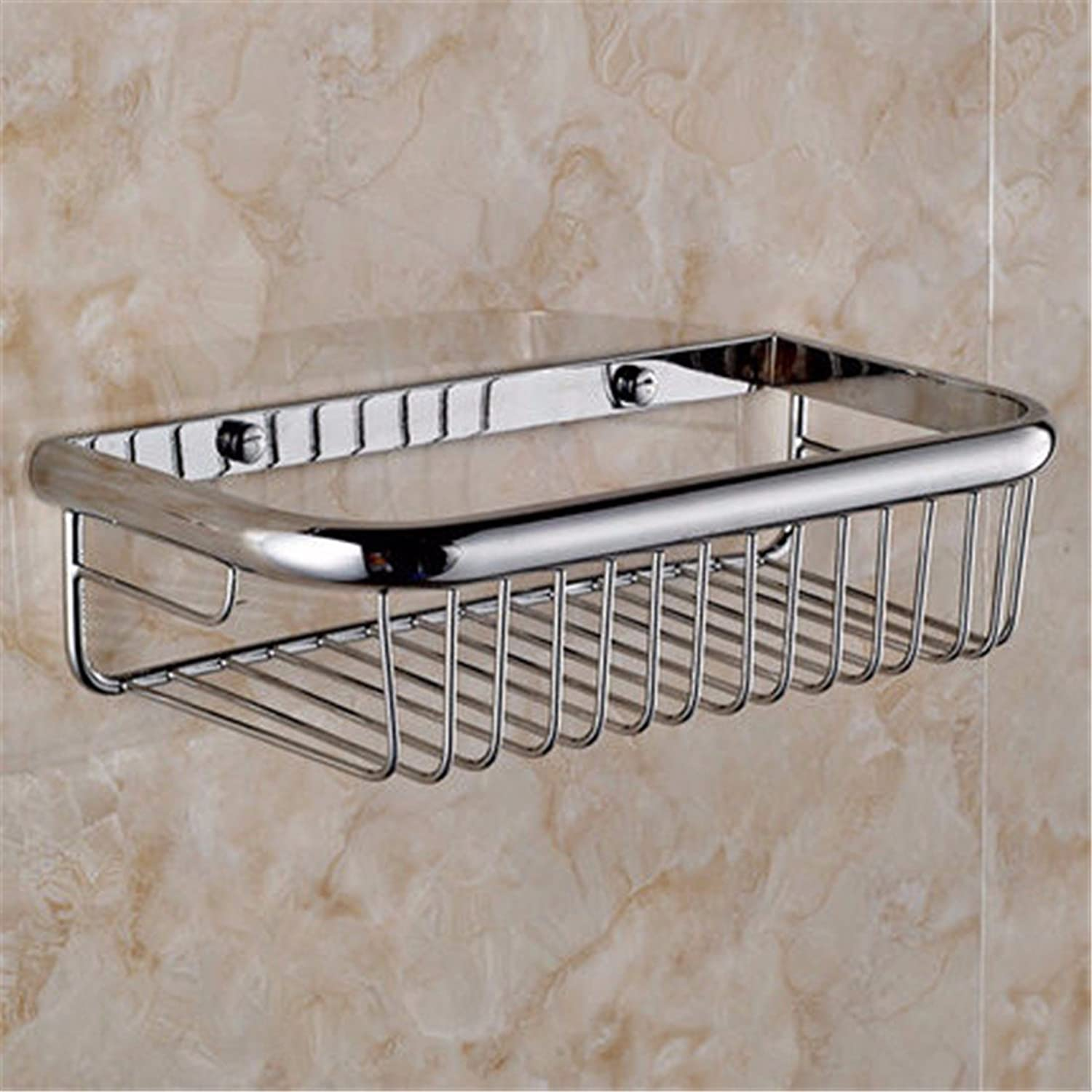 Continental copper grill white paint silver Bathroom Wall-packaged Toilet brush holder soap box, built-in basket 1 B