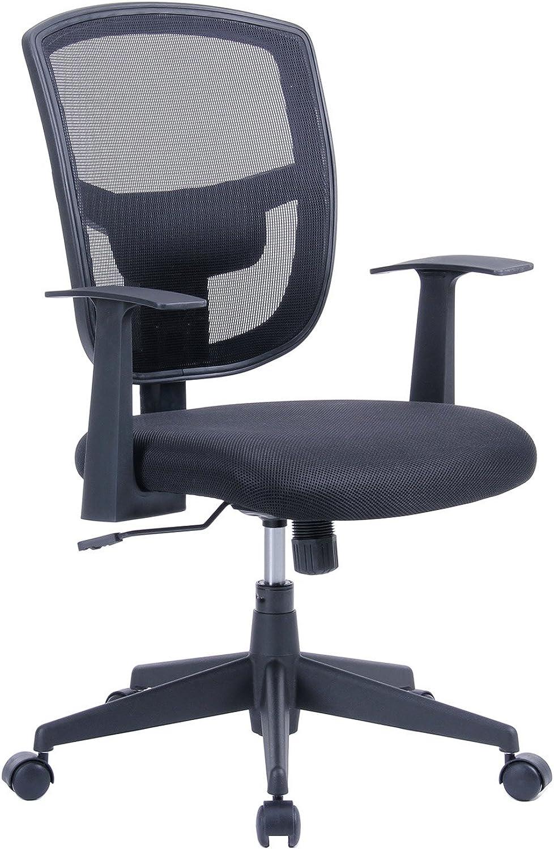 Porthos Home MKC005A BLK Darius Adjustable Mesh Office Chair Black