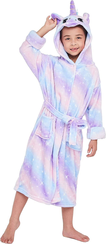 excellence Redaug Kids Unicorn Hooded Gifts for Bathrobe Sleepwear Low price