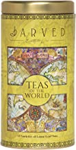 Jarved Teas of the World Gift Premium Tin Box-15 Teas from 10+ countries | 15 Loose Leaf Teas|Earth To Jar