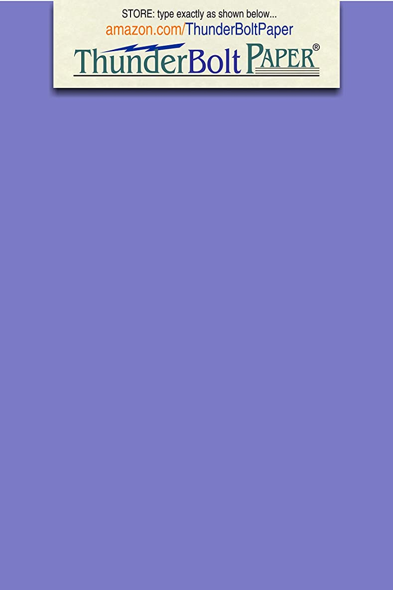200 Bright Blue Violet 65lb Cover Card Paper - 4 X 6 Inches Photo, Card, Frame Size - 65 lb/Pound Light Weight Cardstock - Quality Printable Smooth Surface for Bright Colorful Results