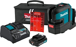 Makita SK105DNAX 12V max CXT Lithium-Ion Cordless Self-Leveling Cross-Line Red Beam Laser Kit (2.0Ah)