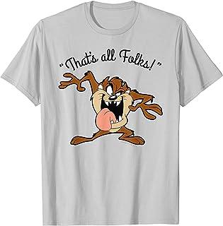 Looney Tunes Taz That's All Folks T-Shirt