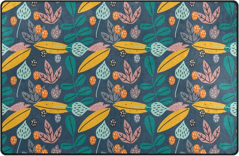 Anna Cowper Vintage Flower Pattern Area Rug Non-Slip Indoor Doormats Floor Mat for Dining Room Home Bedroom Hallway Carpet Decorative 60 x 39 inch