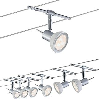 Paulmann 941.23 Kit Completo de Cables con 6 focos Sheela GU5.3, 24 W, Cromo, 1000 x 0.5 x 16.5 cm