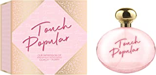 Touch Popular Eau De Parfum Spray Perfume, Fragrance For Women- Daywear, Casual Daily Cologne Set with Deluxe Suede Pouch- 3.4 Oz Bottle- Ideal EDP Beauty Gift for Birthday, Anniversary