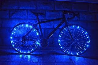 OuterStar Bicycle Wheel Light, Ultra Bright LED Bike Wheel Light, Safety Bike Tire Light, Cool Gift for Kids Men, Waterproof, 2 Pack