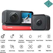 $469 » Insta360 ONE R Twin Edition Dual Lenses Sports Action Camera 5M Body Waterproof Supports FlowState Stabilization Hyperlapse Voice Control Slow Motion Night Shot HDR Photo Video