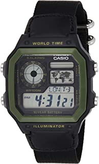 Casio Men's 'World Time' Military Look Watch [AE-1200WHB-1BV]