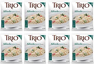 Trio Alfredo Sauce Mix, Creamy Pasta Sauce, Chicken Alfredo, Romano and Parmesan Blend, 16 oz (Pack of 8)