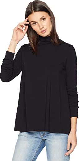 Long Sleeve A-Line Turtleneck Top