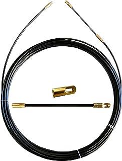 Guia pasacables de nylon, negro, Ø 3 mm, 15 metros, con terminales fijos