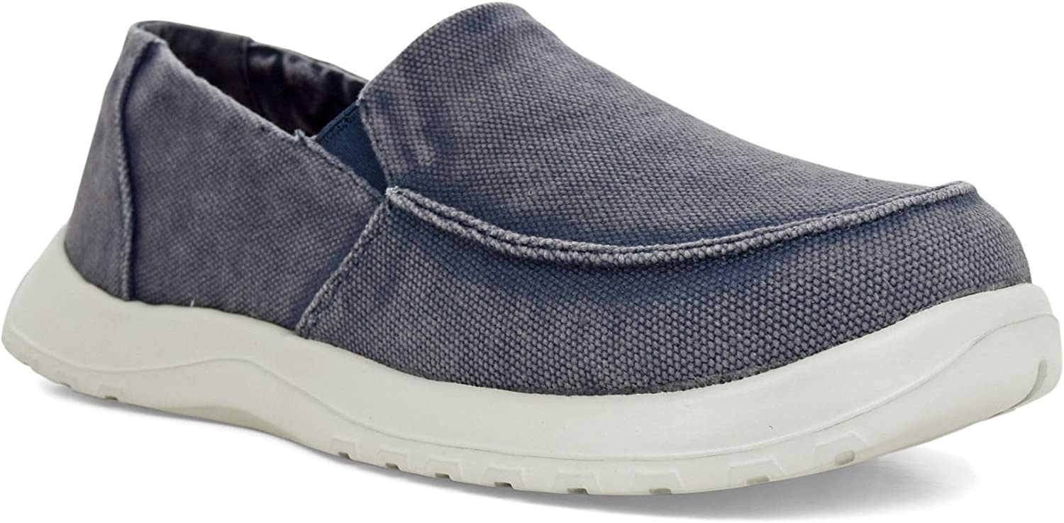 Soft Science Mens Derango Dark bluee, Ultra Comfort Canvas Slip on