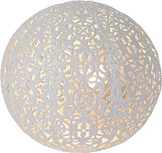 Lucide 46501/01/31 Paolo Lampe de Table, Métal, G9, 28 W, Blanc, 14,5 x 14,5 x 13 cm
