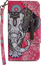 Wiitop Compatible Samsung Galaxy S8 Plus Case, S8+ Leather Wallet Phone Case [ Kickstand & Wrist Strap ][ Credit Card Slot ] Flip Full Body Protective Cover Magnetic Closure Stand (Totems Elephant)