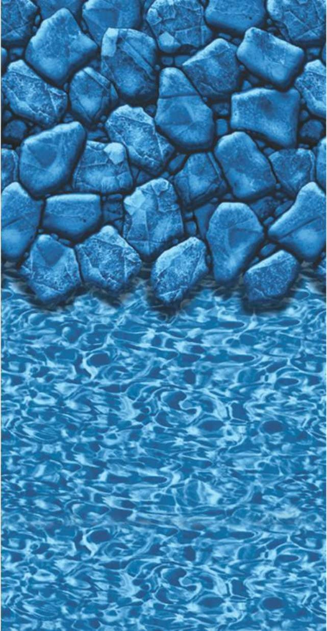 GLI Aqualiner Super popular specialty store Boulder Pool Liner Above 28 Ft. Uni-Bead OFFicial Ro Ground