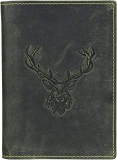Greenburry Vintage Hirsch Porta pasaporte piel 12 cm oliv