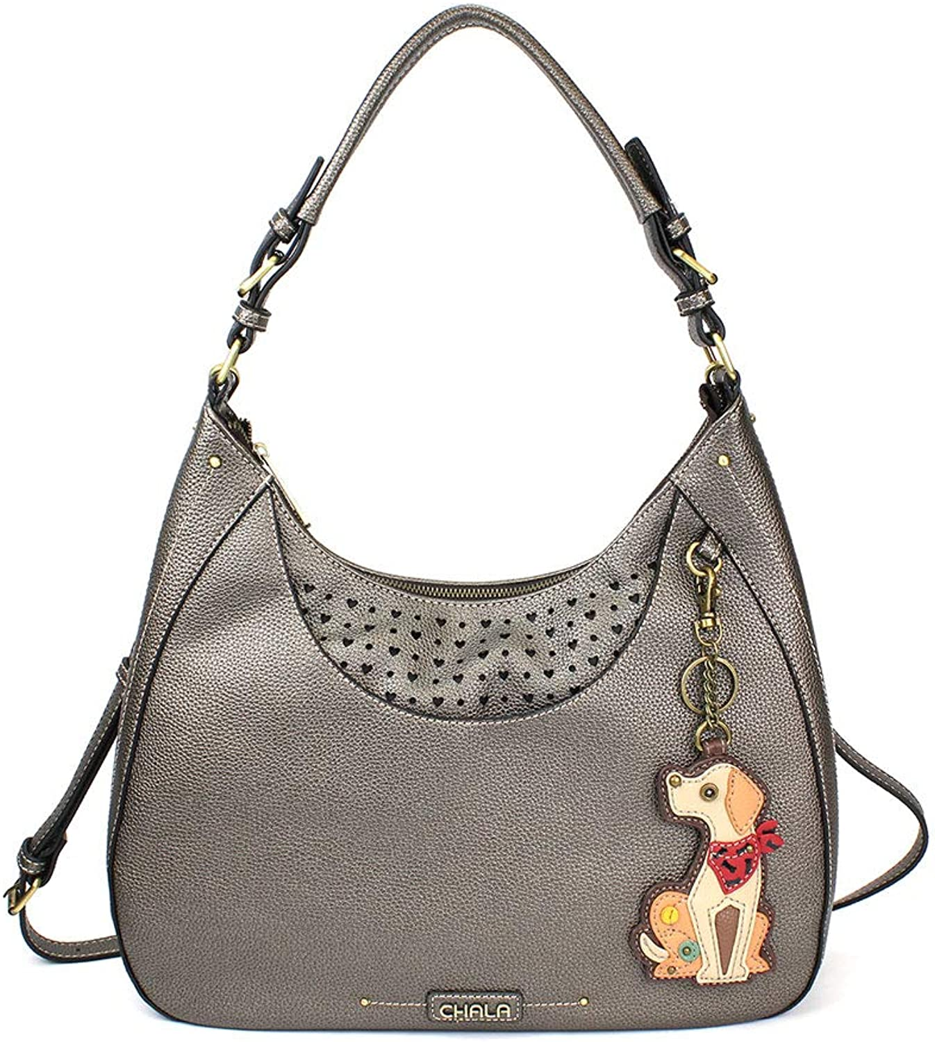 Chala Sweet Tote Hobo Crossbody Purse Yellow Lab   Pewter