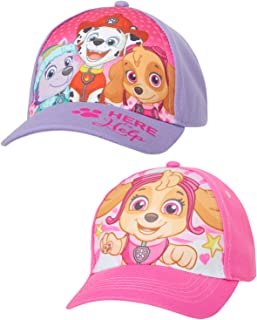 Girls Paw Patrol 2 Pack Cotton Baseball Cap...