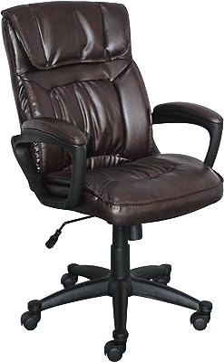 Amazon Com La Z Boy Bradley Faux Leather Executive Chair Black Furniture Decor