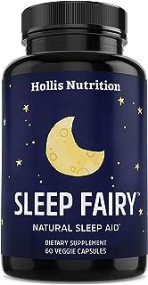 کمک خواب طبیعی SLEEP FAIRY - تشکیل غیر عادت - مکمل استرس ، اضطراب و بی خوابی - قرص خواب آور گیاهی برای بزرگسالان w / Root Valerian، L-Theanine، منیزیم، Melatonin - 60 کلاه وگان
