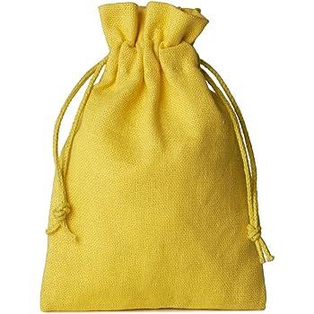 Hooami 10PCS stile etnico quadrato in cotone favor Gift sacchetti coulisse sacchetti di 10/x 8/cm