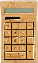 $27 » Calculator, Chacerls Bamboo Solar Powered Calculator 12 Digit 29 Keys LCD Display Office Calculator School Supplies(CS19)