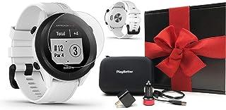 $229 » Garmin Approach S12 (White) Golf GPS Watch Gift Box Bundle | 2021 Model | +HD Screen Protectors, PlayBetter USB Car/Wall A...