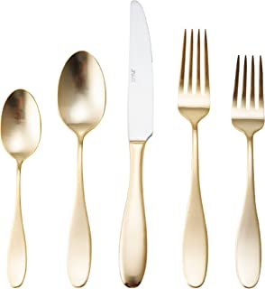 Towle Living 5165791 20-Piece Ashwell Gold Forged Stainless Steel Flatware Set, Service of 4