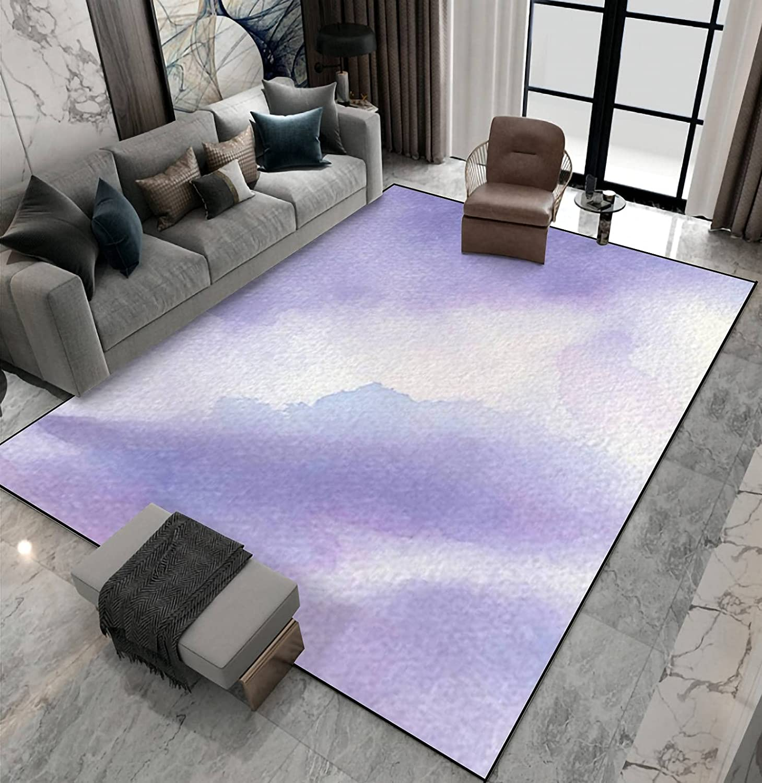 Area Rug Sacramento Mall Non-Slip Ranking TOP3 Floor Mat Texture Watercolor Backgrou Abstract