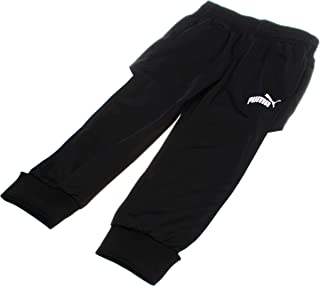 PUMA Boy's Pull-On Warm-up Track Pants; Black (Size 4)