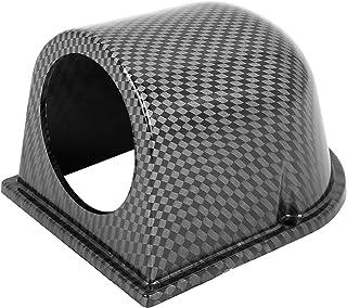 "X AUTOHAUX Universal Car 2.09"" 53mm ABS Plastic Gauge Pod Meter Dash Dashboard Mount Holder Carbon Fiber Pattern"